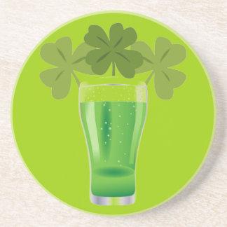 Clover beer drink coaster