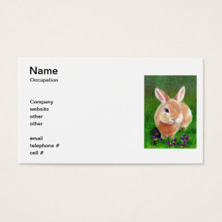 Clover Bunny Business Cards