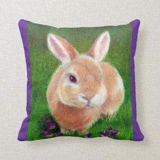 Clover Bunny Throw Pillows
