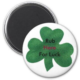 clover button 2 inch round magnet