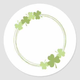 Clover Circle Classic Round Sticker
