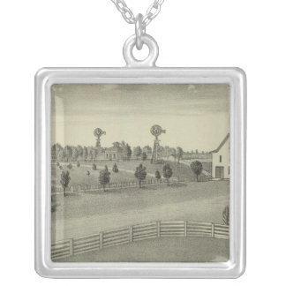 Clover Cliff stock Farm, Chase County, Kansas Silver Plated Necklace