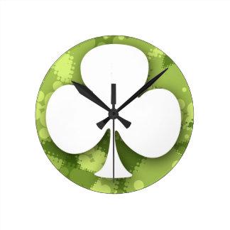Clover Round Wall Clocks