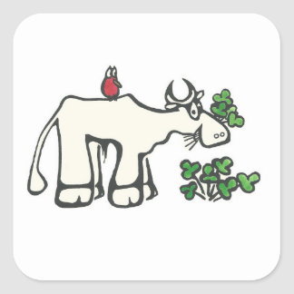 Clover Cow Stickers