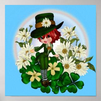 Clover Daisy Patty Leprechaun Poster