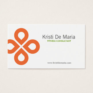 CLOVER DESIGN in ORANGE Business Card