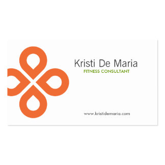 CLOVER DESIGN in ORANGE Double-Sided Standard Business Cards (Pack Of 100)