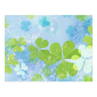 clover design postcard