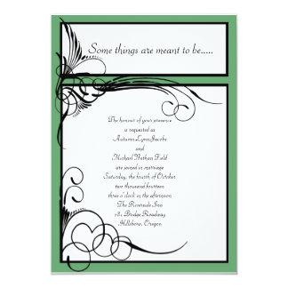 Clover Floral Wedding Invitations