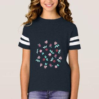Clover Flowers Girls' Football T-Shirt