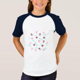 Clover Flowers Girls' Short Sleeve Raglan T-Shirt