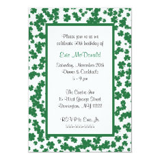 Clover Frame Invitation at Zazzle