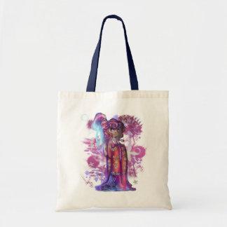 Clover Geisha Budget Tote Canvas Bags