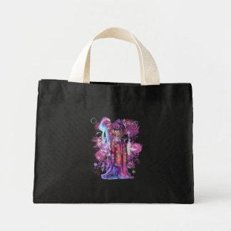Clover Geisha Tiny Tote Canvas Bags