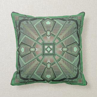 Clover geometric pattern throw pillow green