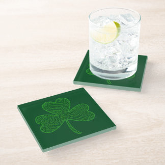 Clover Glass Coaster