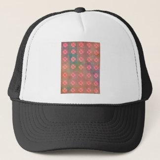 CLOVER HEARTS PATTERN TRUCKER HAT