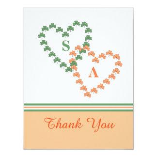 Clover Hearts Thank You Card