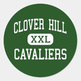 Clover Hill - Cavaliers - High - Midlothian Round Sticker