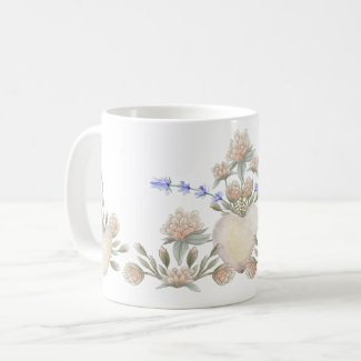 Clover in Bloom Lucky in Love Floral Coffee Mug