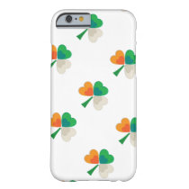 clover in irish flag colors barely there iPhone 6 case