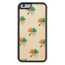clover in irish flag colors carved® maple iPhone 6 bumper case