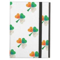 clover in irish flag colors iPad air case