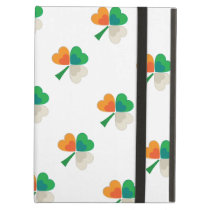 clover in irish flag colors iPad air covers