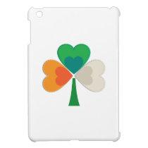 clover in irish flag colors iPad mini cases
