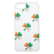 clover in irish flag colors iPhone 7 case