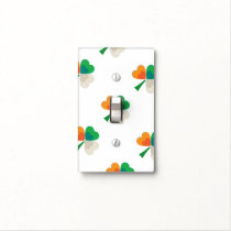 clover in irish flag colors light switch cover