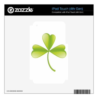 Clover iPod Touch 4G Decals