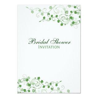 Clover Irish Bridal Shower Invitation at Zazzle