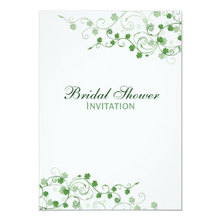 Clover Irish Bridal Shower Invitation at Zazzle