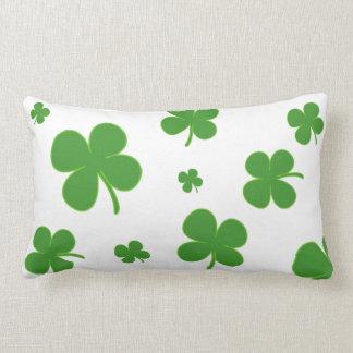 Clover Irish Green Throw Pillow Lucky St. Patrick