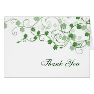 Clover Irish Thank You Cards