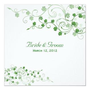 Clover Irish Wedding Invitation at Zazzle