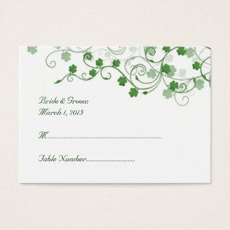 Clover Irish Wedding Place Card