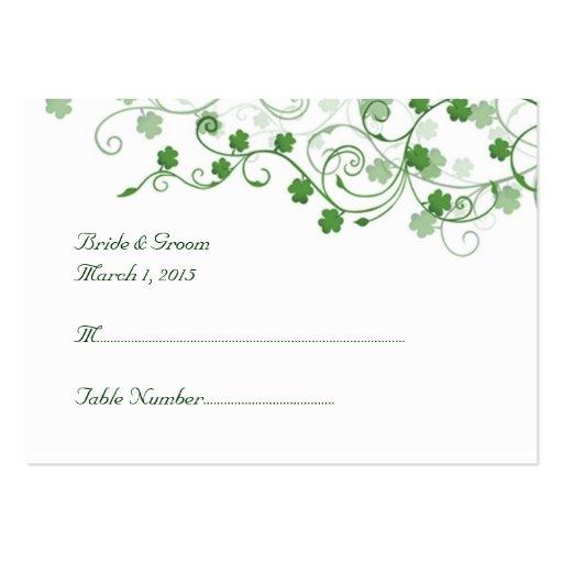 Clover Irish Wedding Place Card Business Card Template