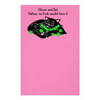 Clover is Lucky write about it ©Daley Stationery