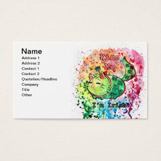 Clover Kitten Kiss Me I'm Irish Business Card