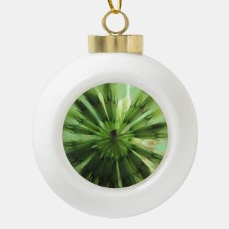 Clover Leaf Ceramic Ball Christmas Ornament