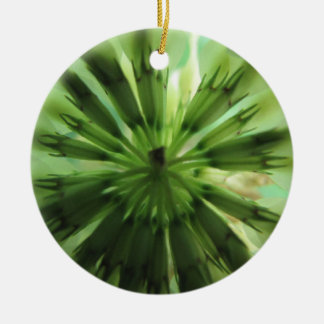 Clover Leaf Double-Sided Ceramic Round Christmas Ornament