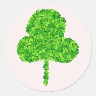 clover leaf classic round sticker