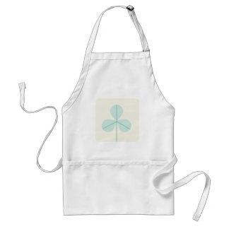 Clover Leaf Three Green Trefoil Luck Irish Cartoon Adult Apron