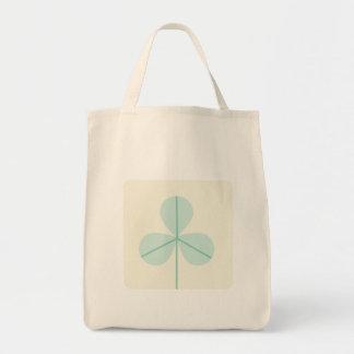 Clover Leaf Three Green Trefoil Luck Irish Cartoon Tote Bag