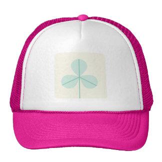 Clover Leaf Three Green Trefoil Luck Irish Cartoon Trucker Hat