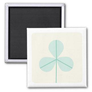 Clover Leaf Three Green Trefoil Luck Irish Cartoon Magnet