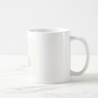Clover Leaf Three Green Trefoil Luck Irish Cartoon Classic White Coffee Mug