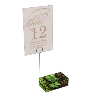 Clover Leave Table Card Holders